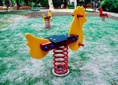 jungle gym: On the playground, jungle gym Stock Photo