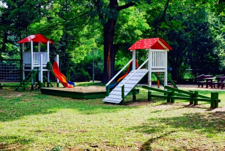 playground equipment: A colourful children playground equipment