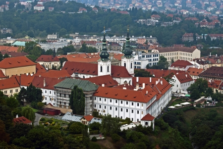 View on Strahov monastery, Prague photo