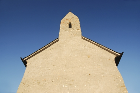 Frontage of romanesque church in Slovakia
