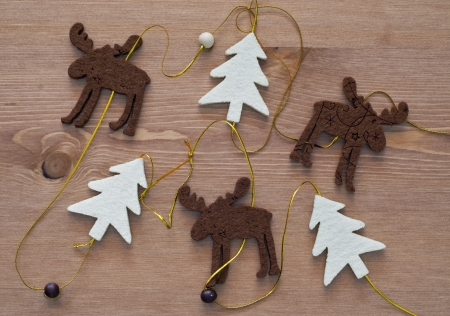 Christmas decoration - trees and a reindeer. photo