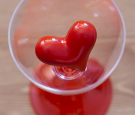 Red heart in a glass. Stock Photo - 17186338