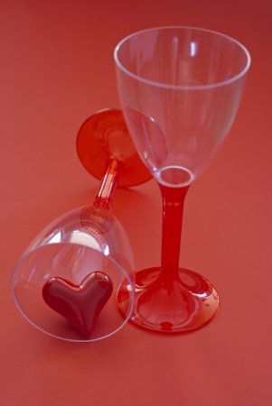 Red heart in a jar. Symbol of love. Stock Photo - 17253787