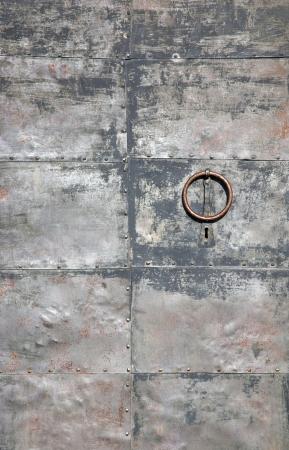 Background of old metal door. Stock Photo - 17621082