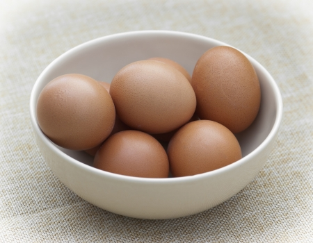 Fresh eggs in a bowl  photo