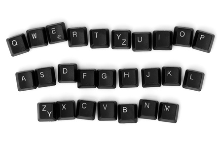 Keyboard keys isolated on a white background. photo