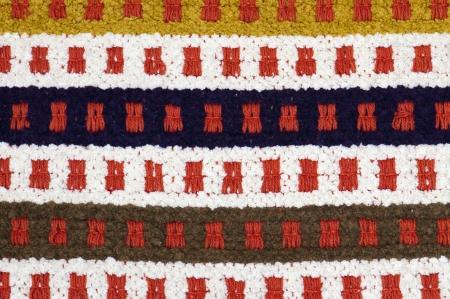 hand woven: Tappeto tessuto a mano con disegno astratto