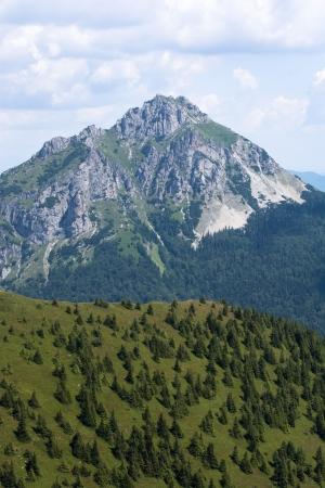 Big Rozsutec peak (Velky Rozsutec) in Mala Fatra mountain, Slovak republic. Stock Photo