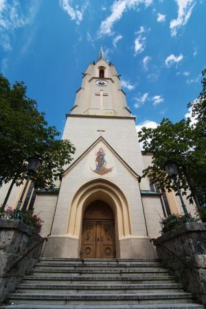 sectarian: Maria-Himmelfahrt (Assumption day) church in Garmisch-Partenkirchen, Bavaria, Germany.