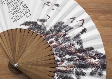 Traditional fan with natural motive photo