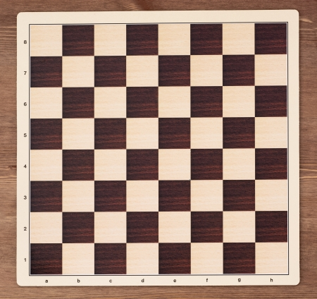 parlour games: Empty chess board - equipment of leisure games