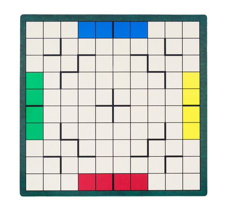 parlour games: Isolated empty game board. View from above. Stock Photo