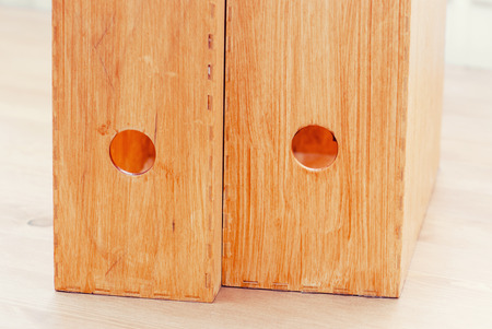 office documents: Two wooden folders for office documents.