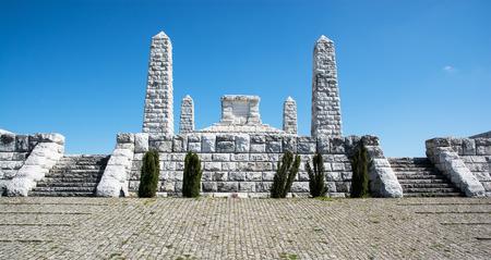 stefanik: Stefaniks tomb on the Bradlo hill in Brezova pod Bradlom, Slovakia. Stock Photo