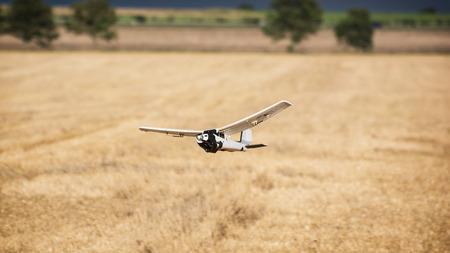 Rc model aircraft at flight. Foto de archivo