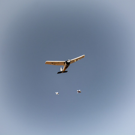 Rc model aircraft plunging bombs. photo