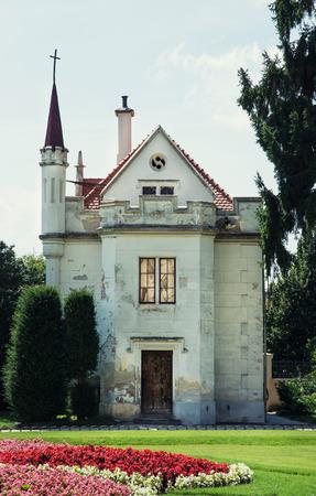 casa vecchia: Bella vecchia casa in Lednice, Moravia, Repubblica Ceca, Europa.