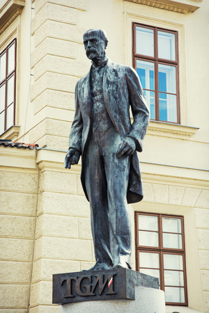 central europe: Tomas Garrigue Masaryk statue in Prague, Czech republic, central Europe.
