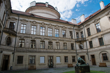 central europe: Sternberg palace courtyard in Prague, Czech republic, central Europe. Editorial