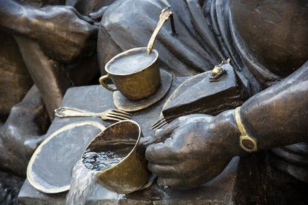 gula: Matrimonio Fuente Carousel (Das Ehekarussell) en el centro de Nuremberg, Baviera, Alemania. Detalle de la gula.