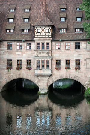 Hospital of the Holy Spirit (Heilig-Geist-Spital) in Nuremberg city, Bavaria, Germany. photo