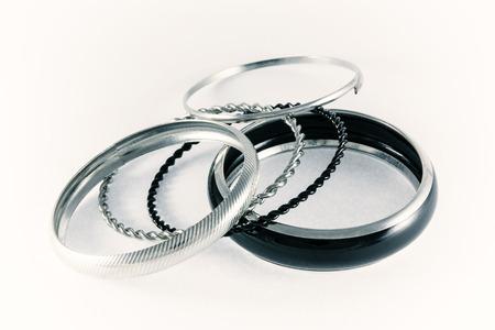 Set of bracelets on a white background. photo