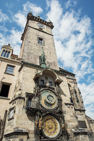 old town hall: Old town hall with astronomical clock in Prague. Czech republic, Europe.