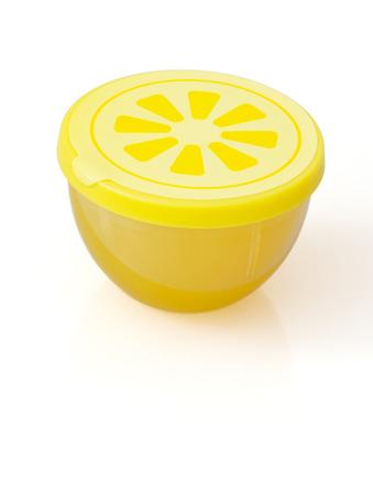 vertical fridge: Fridge freshener with lemon smell on a white background.