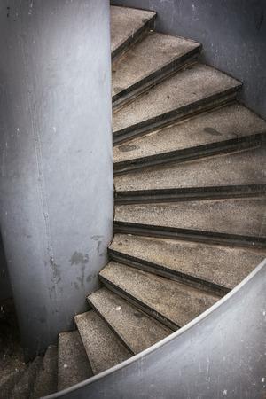 spiral stairway: Spiral stairway. Detail architectural element. Stock Photo