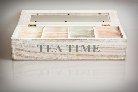 tea set: Tea set in wooden box