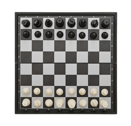 parlour games: Chess game isolated on the white background.