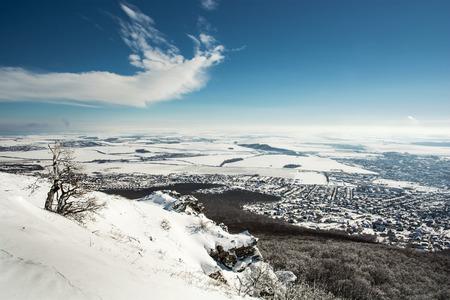 Snowy landscape in Slovak republic, Europe. photo