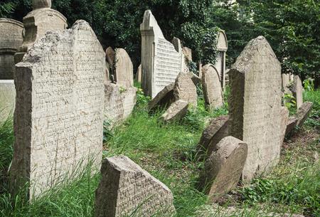 Joodse begraafplaats, Zizkov, Praag, Tsjechische Republiek, Midden-Europa. Stockfoto - 36322879