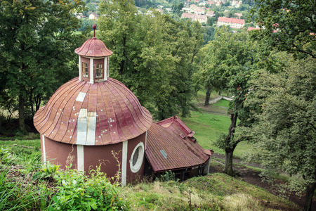 slovak: Calvary in Banska Stiavnica, Slovak republic, Europe. Travel destination. Stock Photo