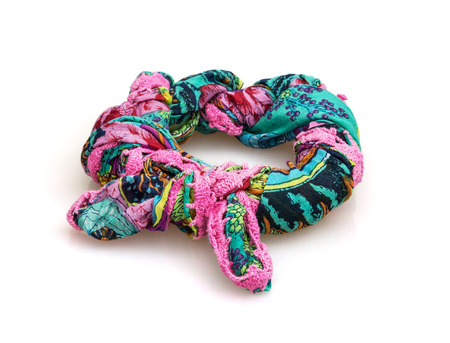 Colorful scarf on the white background. photo