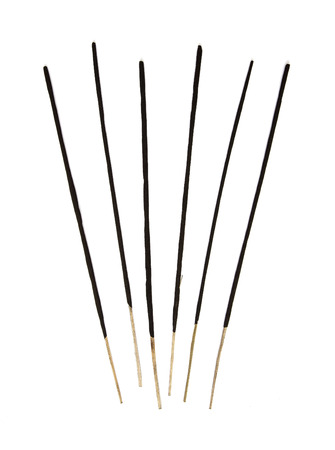 incense sticks: Group of incense sticks on the white background.