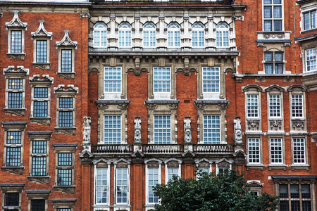 historical building: Facade of historical building in London, Great Britain.