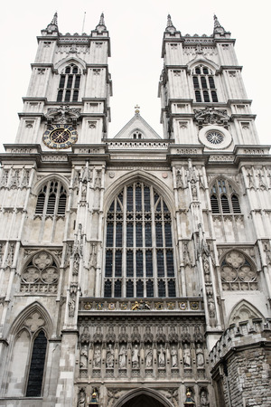gothic church: Westminster Abbey, formally titled the Collegiate Church of St Peter at Westminster, is a large, mainly Gothic church in the City of Westminster, London, located just to the west of the Palace of Westminster. Stock Photo