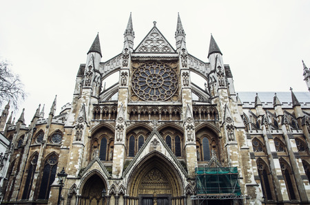 rectilinear: Westminster Abbey, formally titled the Collegiate Church of St Peter at Westminster, is a large, mainly Gothic church in the City of Westminster, London.