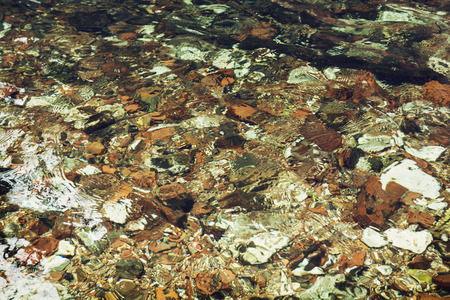 clear water: Clear water flowing over stones in the creek. Natural background.