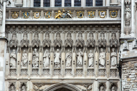 Westminster Abbey detail, London, Great Britain.