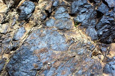 ore: Geological deposits of ore. Industrial mining. Stock Photo