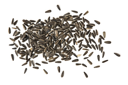 flax seeds: Flax seeds isolated on the white background.