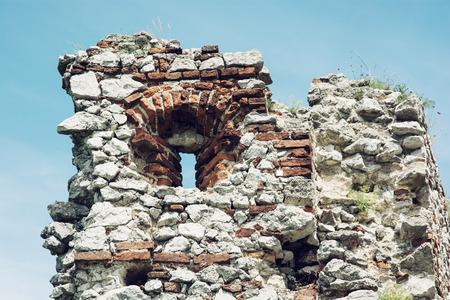 loophole: Loophole, Plavecky castle, Slovak republic. Detail photo.