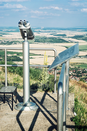 approximation: Sightseeing binoculars, Zobor, Slovak republic. Tourism theme.