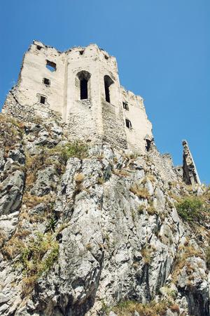 slovak: Beckov castle ruins, Slovak republic, central Europe.