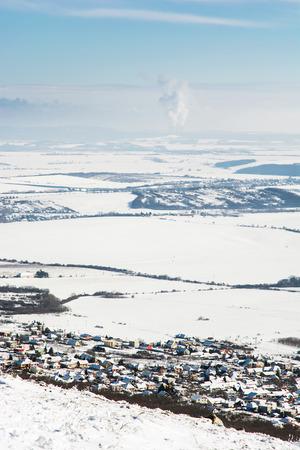 snowy landscape: Snowy landscape in Slovak republic, Europe. Seasonal scene.