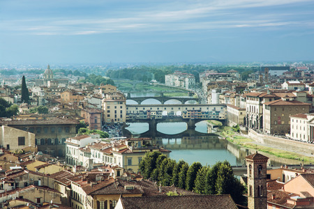 ponte vecchio: View of the beautiful city Florence with amazing bridge Ponte Vecchio,Tuscany, Italy. Travel destination.