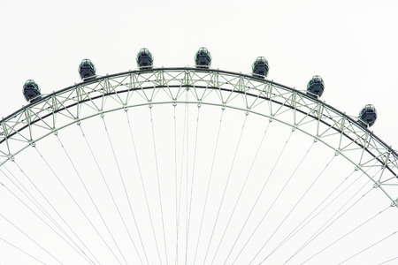 millennium wheel: The London Eye is a giant ferris wheel on the South Bank of the river Thames in London. Also known as the Millennium Wheel. Great Britain, Europe.