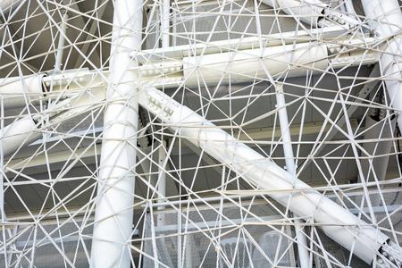 cobweb: Futuristic white wall design in the cobweb form.